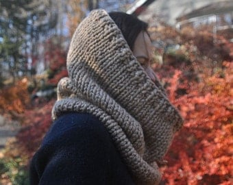 Easy Knitting Pattern Cowl Infinity Scarf - Digital Download