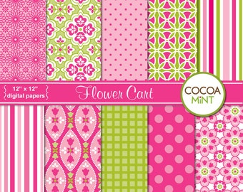 Flower Cart Digital Papers