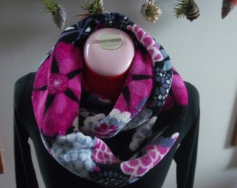 Floral Ultra Plush Infinity Scarf, Super Soft & Warm- Ultra Plush Snuggle Fabric