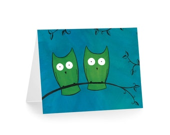 Owls Notecards - Owl Note Card - Owl Stationery