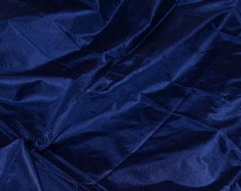Silk taffeta in Navy Blue - fat quarter -TF 67