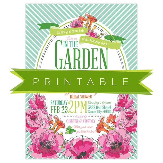 Garden Party Invitations gangcraftnet