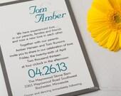 Wedding Invitations Shimmer Metallic Unique Ampersand Modern Teal Gray Grey Wedding Invitations Wedding Invitation Invites Invite Sample