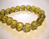 32 Pieces Goldenrod Yellow Beads Glass Beads Faceted Glass 10mm Full Strand