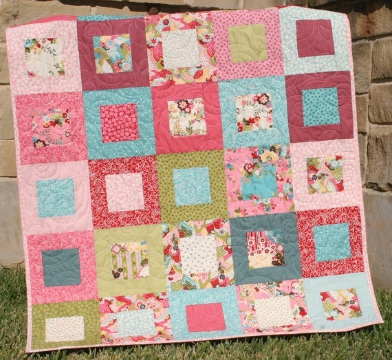 Baby Quilt Pink Paisley Girly Girl Blanket Sophie