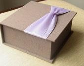 Keepsake Box. Memory Box. Fabric Box. Custom Order.