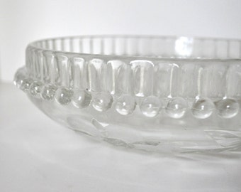 Vintage Cut Glass Crystal Berry Bowl plus 6 Set made in Italy