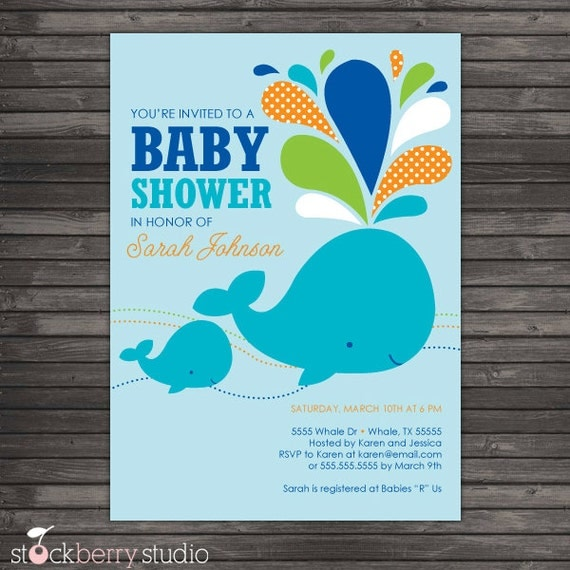 boy baby shower invites aqua blue whale baby shower invite whale