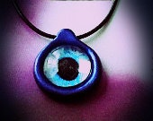 Mystical Eye- polymer clay and glass eyeball necklace
