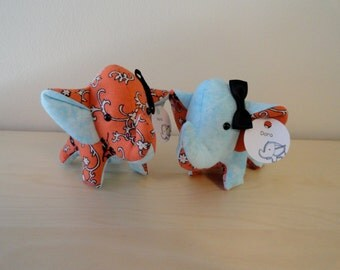 Tiny Stuffed Best Friends Elephants- Nora and Dora