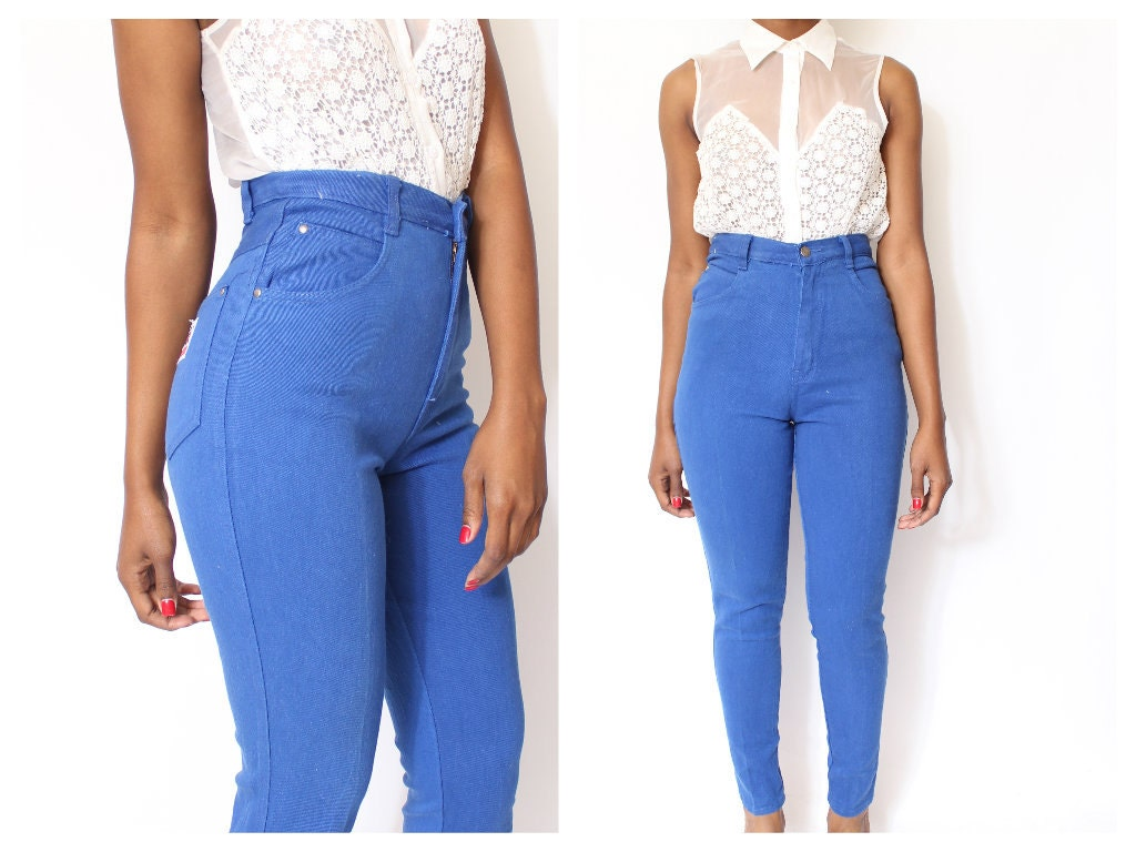 High Waisted Colored Skinny Jeans