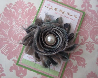 Girl hair clips - military hair clips - girl barrettes - camouflage barrettes