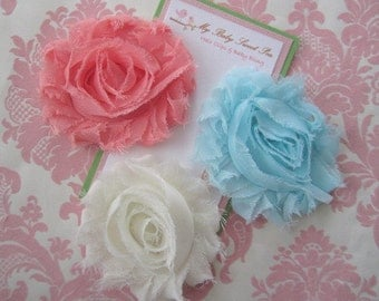 Girl hair clip - flower hair clips - girl barrettes - summer hair clips