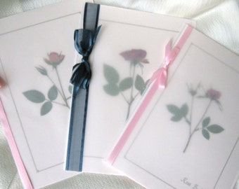 Mothers Day Cards, Happy Mothers Day Greeting Cards,  3 Rose Cards for Moms Special Day