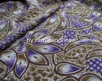 """Silk fabric, vintage style floral print crepe de chine silk fabric, pure silk fabric, dress fabric, one yard by 54"""""""