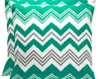 """Pillow, cushion cover 20""""   or pick your size chevron  pattern in aqua, turquoise"""