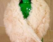 SALE Vintage Big Cream Coyote Genuine Fur Stohl