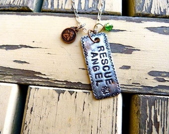 Rescue Angel, Dog Rescue, Cat Rescue, Animal Rescue, Necklace