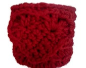 Red Heart Shaped Coffee Cozy Red Heart Shaped Coffe Holder Red Heart Shaped Cup Cozy