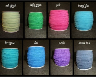 """5 Yards of Skinny Elastic 1/4"""" Wide 17 Colors to pick from"""