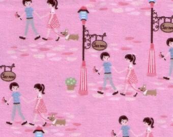 First Love - Pink - FLANNEL - 1 yard