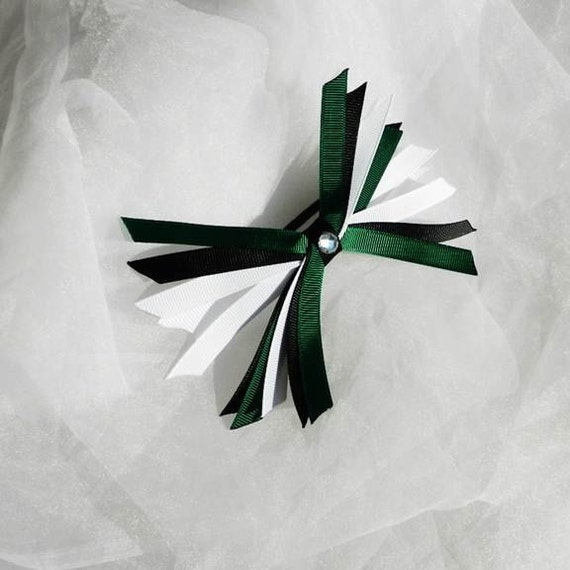 Irish Spike Cheer Bow Ponytail