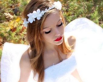 Flower Crown, Apple Blossoms, WHimical Wedding, Hair Flower, Bridal Tiara - Emma -