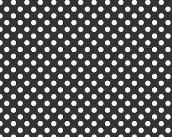 Riley Blake Black Small Dots- 1/2 yard