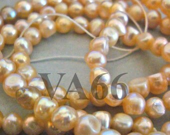 DIY full strand Fresh Water Pearls Round Pearl Beads Peach Shades 3mm - 4mm Loose Pearls Jewelry Making Findings