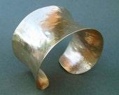 Gold Cuff Bracelet Handmade Jewelry Hammered Brass Cuff