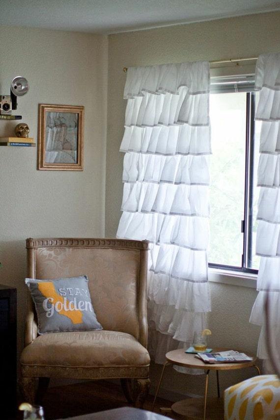 Custom Made Ruffle Curtains