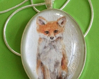 Lovely Fox Pendant Necklace
