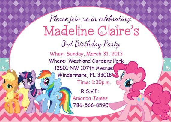 My Little Pony Invitation Templates Free