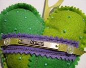 Felt Green Purple Heart Create
