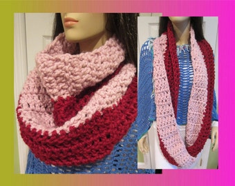 Infinity Scarf,MANY COLORS, Lambswool,Chunky Scarf ,Wool Scarf, Cowl, Cowl Neck Scarf, Warm Scarf, Extra Long Scarf, Handmade Scarf ,Scarves
