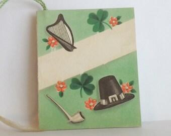 Art Deco vintage tally card Irish by Hallmark ephemera