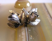 Rare Sterling Earrings signed : Denmark SCF ( S.Chr Fogh) Beautiful delicate design with small flowers  Classic Danish design earrings are c