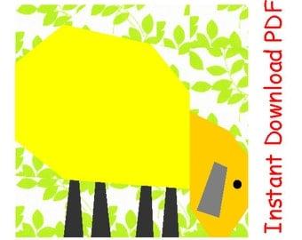 Pasture  sheep quilt paper piecing Pattern block INSTANT DOWNLOAD PDF Free sun pattern