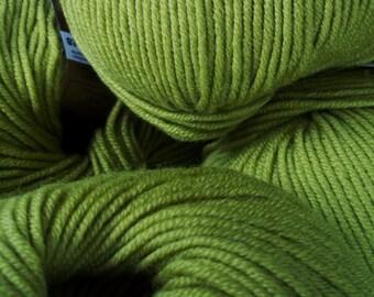 DK Weight Yarn - Spring Moss Merino - Washable Superfine Merino - 50g - Green - Ornaghi Filati Merino Kind