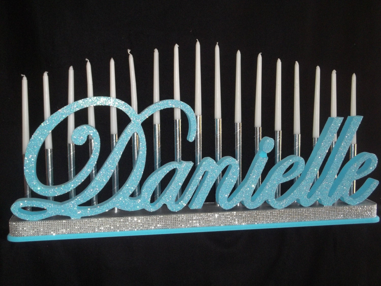 Tiered Candle Holder Embellishment For Sweet 16 Bat Mitzvah