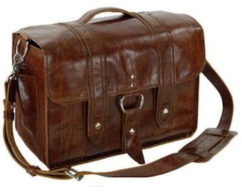 "15"" Caramel Sierra Italian leather Laptop Bag"