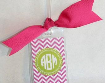Personalized Bag Tag Monogram Luggage Tag Personalized Luggage Tag with Name or Monogram Custom Bag Tag CHEVRON