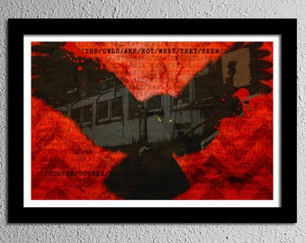 Twin Peaks The Owls Are Not What They Seem - Original Poster - Cooper - Train Car - Art Print