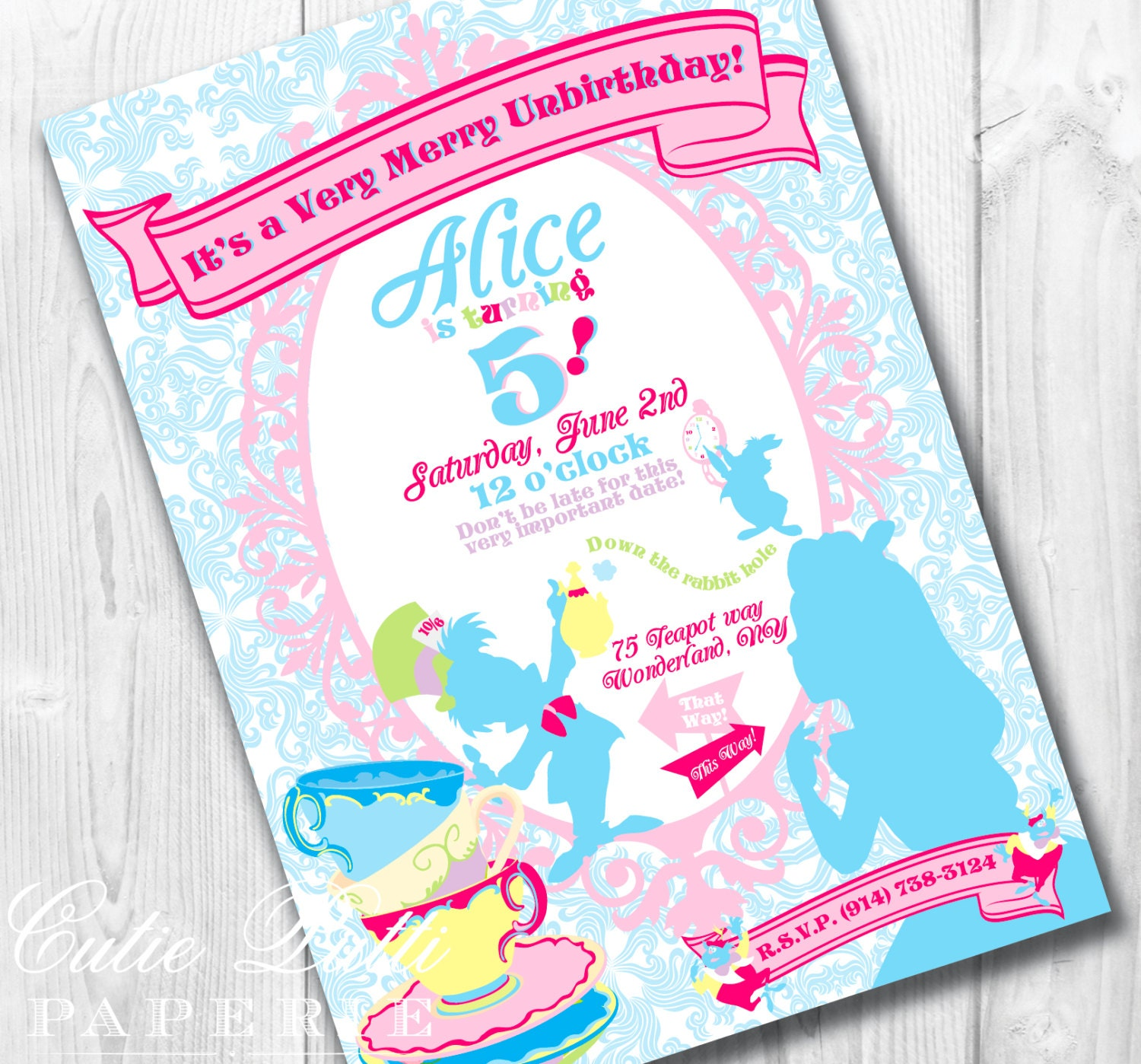 Alice In Wonderland Party Invitations gangcraftnet