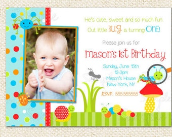Bug Birthday invitations