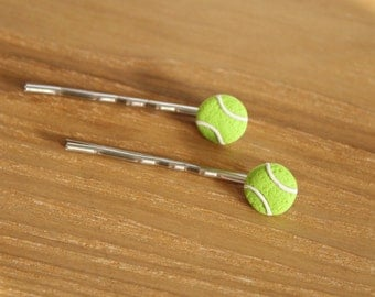 Sporty Girl Bobby Pins... Tennis Ball Hair Pins