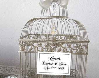 Glamorous Chandelier Birdcage- Large Bird Cage-Wedding card holder