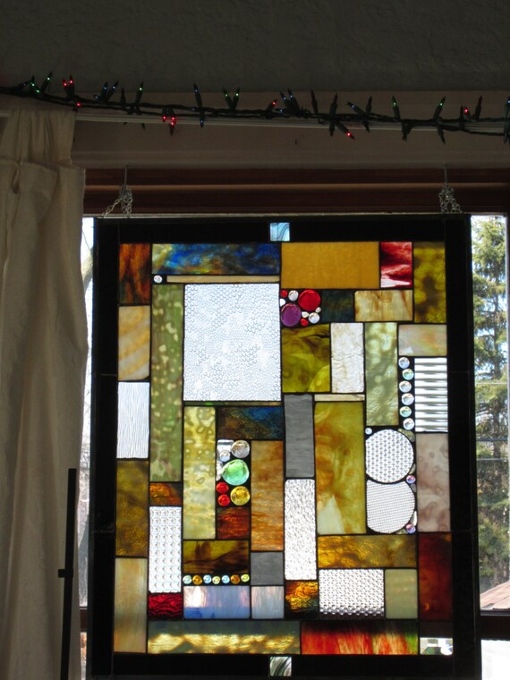 Stained glass for Stained glass kitchen windows