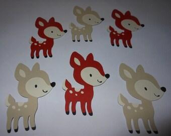 Woodland Animal Die Cuts - Deer / Fawn - Set of 6