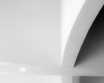 Black and White Abstract, Curve, Shadow, architectural detail, Minimalist, photograph